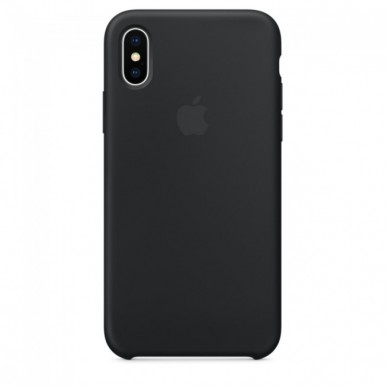 Black Apple silicone case для iPhone X