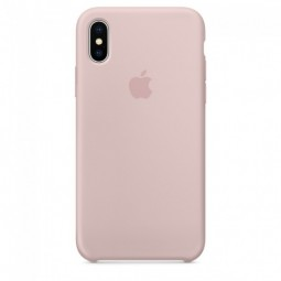 Pink Sand Apple silicone case для iPhone Xs Max