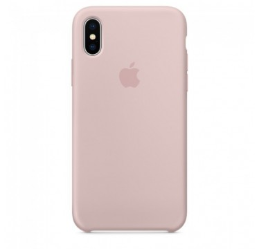Pink Sand Apple silicone case для iPhone X