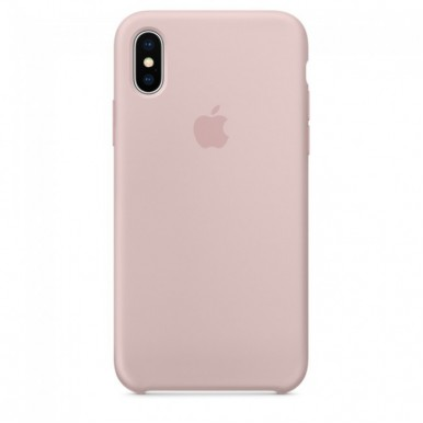 Pink Sand Apple silicone case для iPhone X