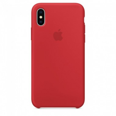 Red Apple silicone case для iPhone X