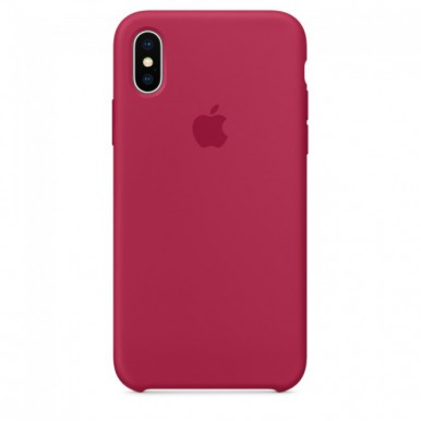 Rose Red Apple silicone case для iPhone X
