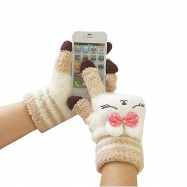 """Перчатки для сенсорных экранов """"Кролик"""""""
