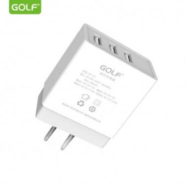 Сетевое зарядное устройство  Golf 3USB 3.4A