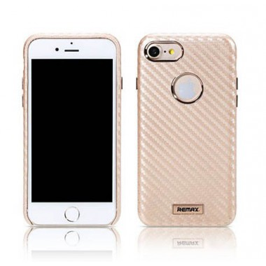 Чехол Remax Carbon gold для iPhone 7