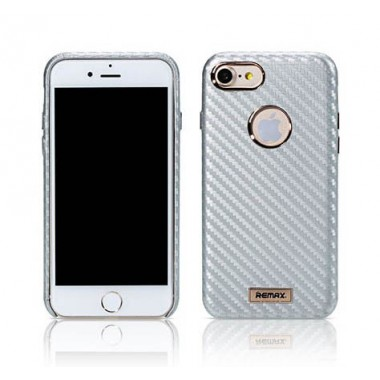 Чехол Remax Carbon silver для iPhone 7