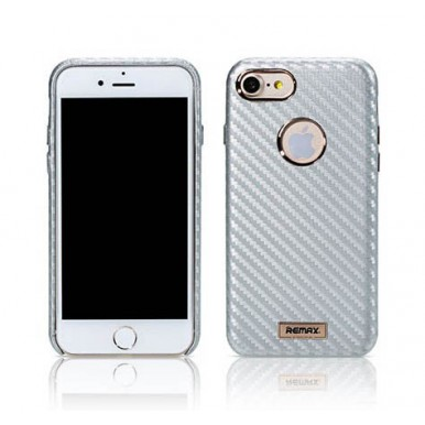 Чехол Remax Carbon silver для iPhone 7
