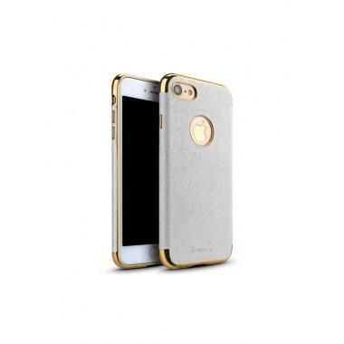 """Силиконовый чехол """"iPaky Leather White"""" для iPhone 7 и 8 Plus"""