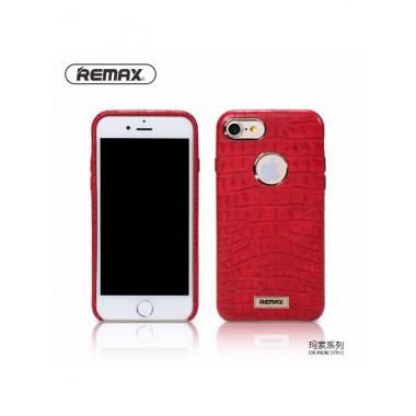 """Кожаный красный чехол """"Remax Maso"""" для iPhone 7 Plus"""
