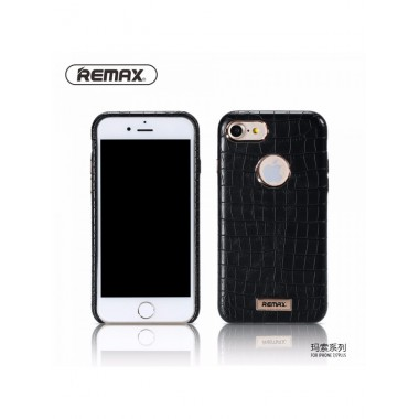 """Кожаный черный чехол """"Remax Maso"""" для iPhone 7"""