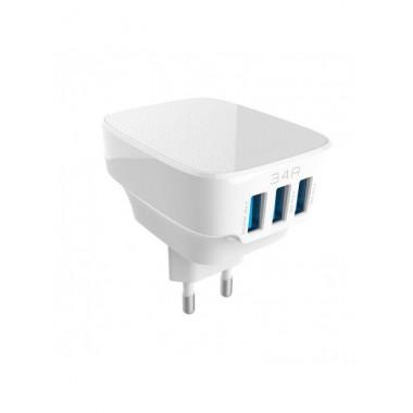 Сетевое зарядное устройство Ldnio DL-AC-65 c Micro USB 5V/3.4A 3USB