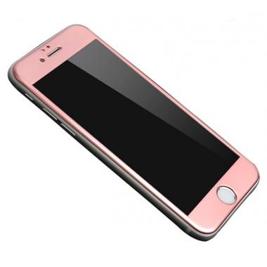 Защитное розово-золотое 4D стекло для iPhone 6+/6s+