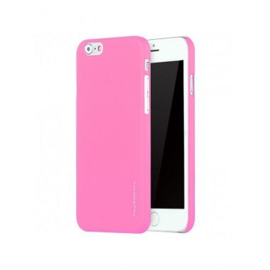 "Пластиковый розовый soft touch чехол ""Seven days Metalic"" для iPhone 6/6s"