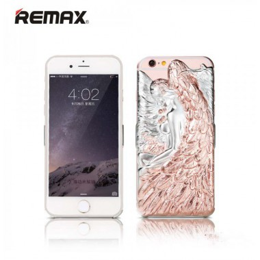 Пластиковая розовая накладка Remax Camael для iPhone 6/6s