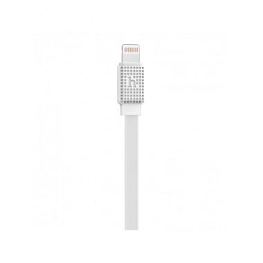 Lightning USB кабель Hoco Waffle Flat 1.2M 2.1A