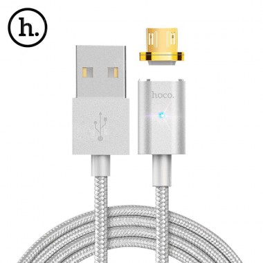 Магнитный Micro USB кабель Hoco magnetic adsorption 1.2М 2.4А