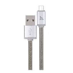 Micro USB кабель Hoco U5 Full-Metal серый