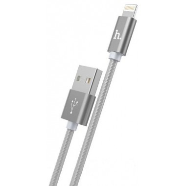 "Lightning USB кабель ""Hoco X2"" серый для iPhone/iPod/iPad"