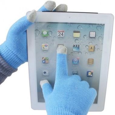 Синие перчатки Touch Gloves для сенсорных экранов