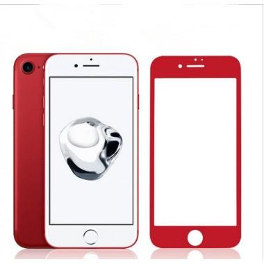 Защитное красное 5D стекло Aspor для iPhone 6/6s