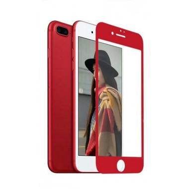 Защитное красное 4D стекло для iPhone 7