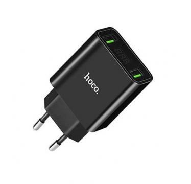 Сетевое зарядное устройство Hoco 2USB/2.2A Led дисплей