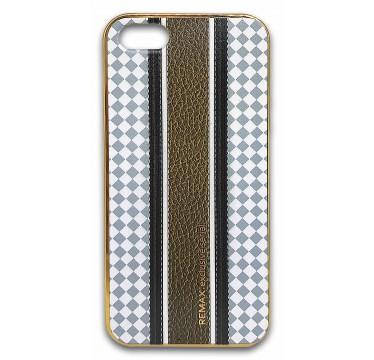 Силиконовый чехол Remax с коричневой полосой для iPhone 5/5s/SE