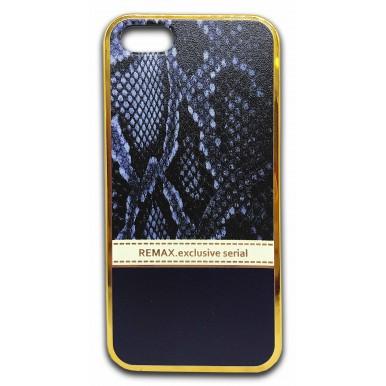 Силиконовый чехол Remax синий питон для iPhone 5/5s/SE