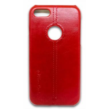 Пластиковый красный чехол под кожу Remax Pierre Cardin для iPhone 6/6s