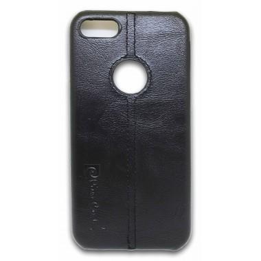 Пластиковый черный чехол под кожу Remax Pierre Cardin для iPhone 7