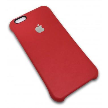 Кожаная красная накладка Apple для iPhone 6/6s