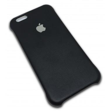 Кожаная черная накладка Apple для iPhone 6+/6s+