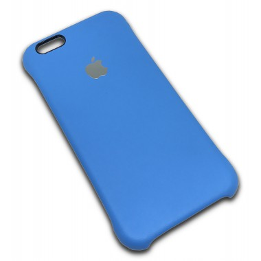 Кожаная голубая накладка Apple для iPhone 5/5s/SE