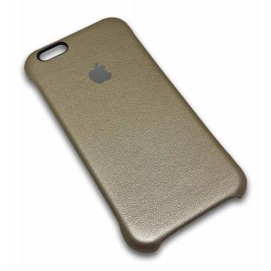 Кожаная золотая накладка Apple для iPhone 6+/6s+